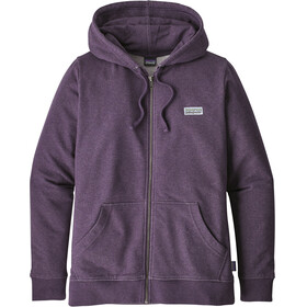 Patagonia Pastel P-6 Label Midweight Full-Zip Hoody Women Piton Purple